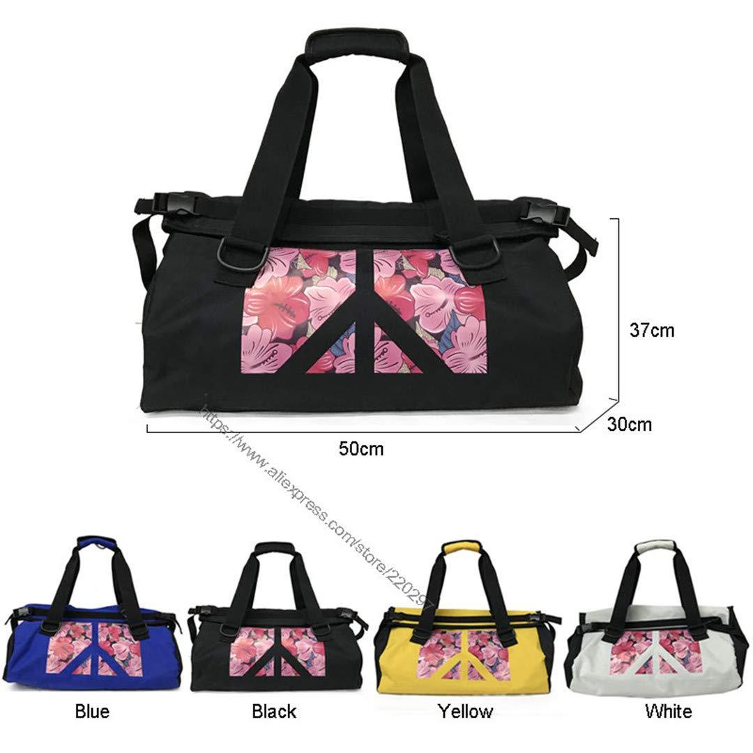 SPOROWJD Fitness Hombro Gym Bag Floral para Bolsas De Entrenamiento Impermeables Hombres Mujeres Bolsos De Viaje Black: Amazon.es: Deportes y aire libre