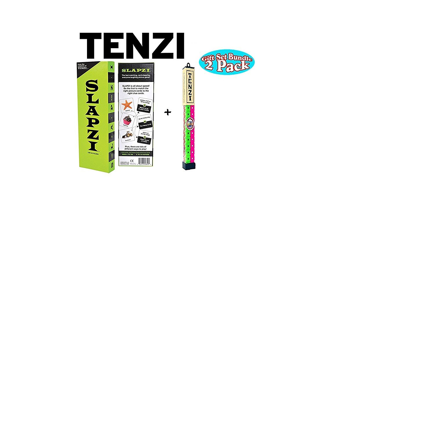 Tenzi Dice Party Game and Slapzi Picture Game - A Fun, Fast Frenzy for All Ages - (Colors May Vary)
