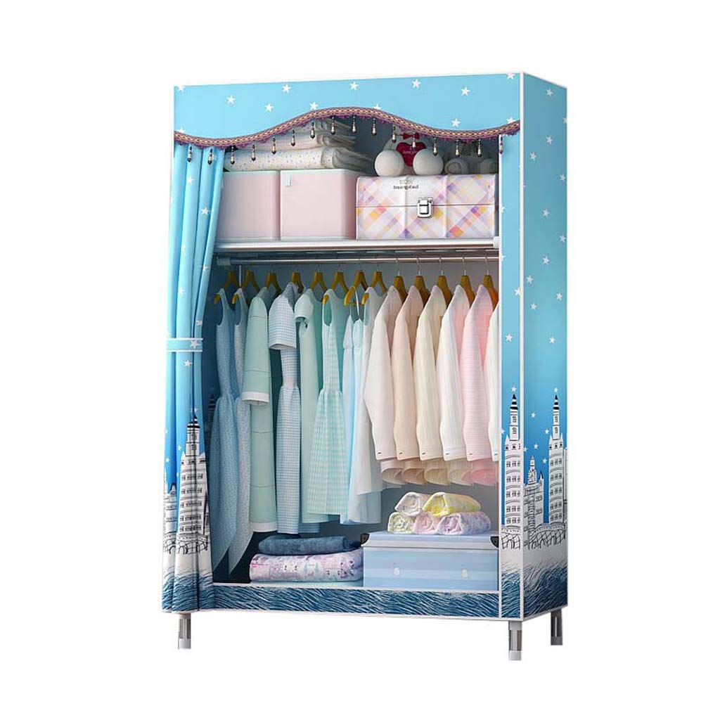 Hai Yan Boutique Cloth Wardrobe Cloth Wardrobe-economical and Simple Modern Combination Cabinet Simple Wardrobe Fabric Closet Steel Tube Bold Reinforcement Assembly Double Storage Wardrobe by Hai Yan