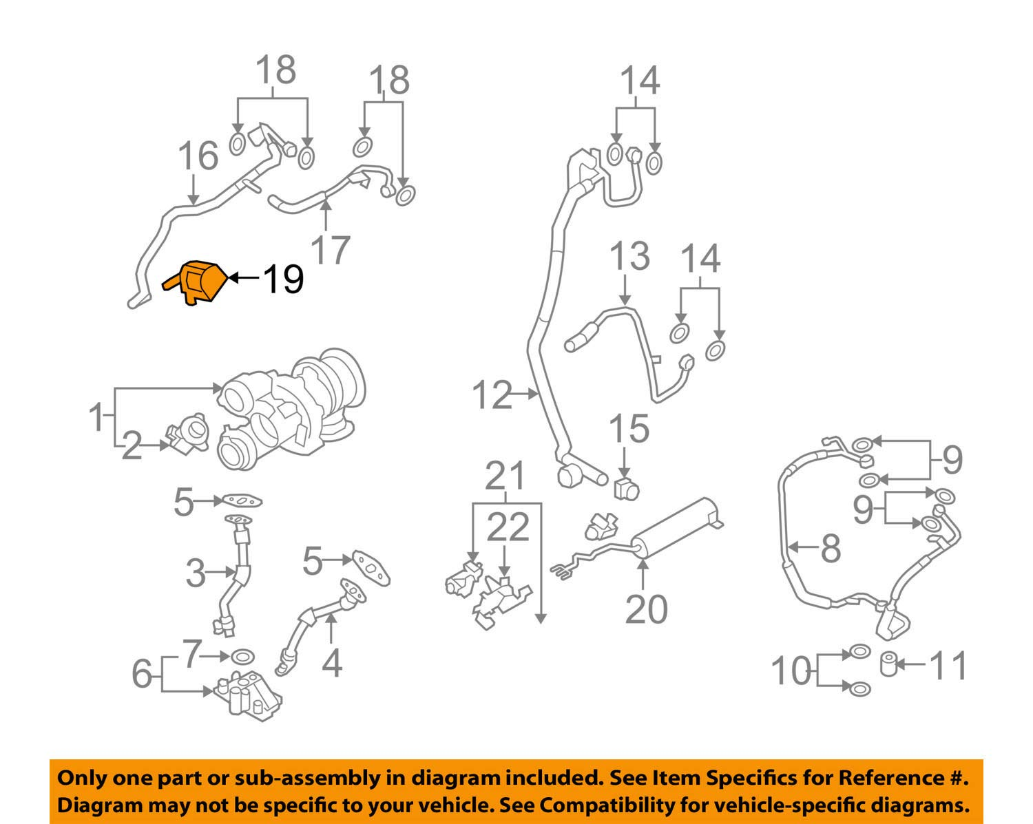 BMW 11-51-7-629-916 Geniune Auxiliary Water Pump:115010 by BMW (Image #1)