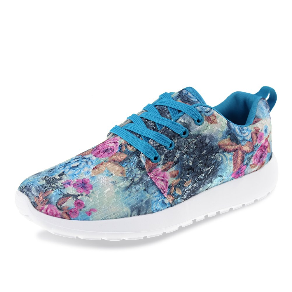 Hawkwell Women's Hot Style Fashion Sneaker,Blue Fabric,10 M US