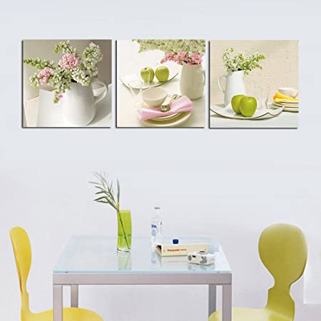 3 Piece Contemporary Kitchen Decor Split Canvas Picture of Art Wall ...