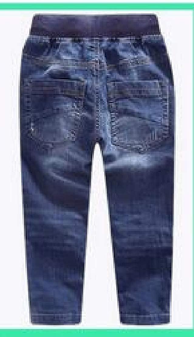 Wofupowga Boys Denim Elastic Waist Pants Casual Comfortable Jeas