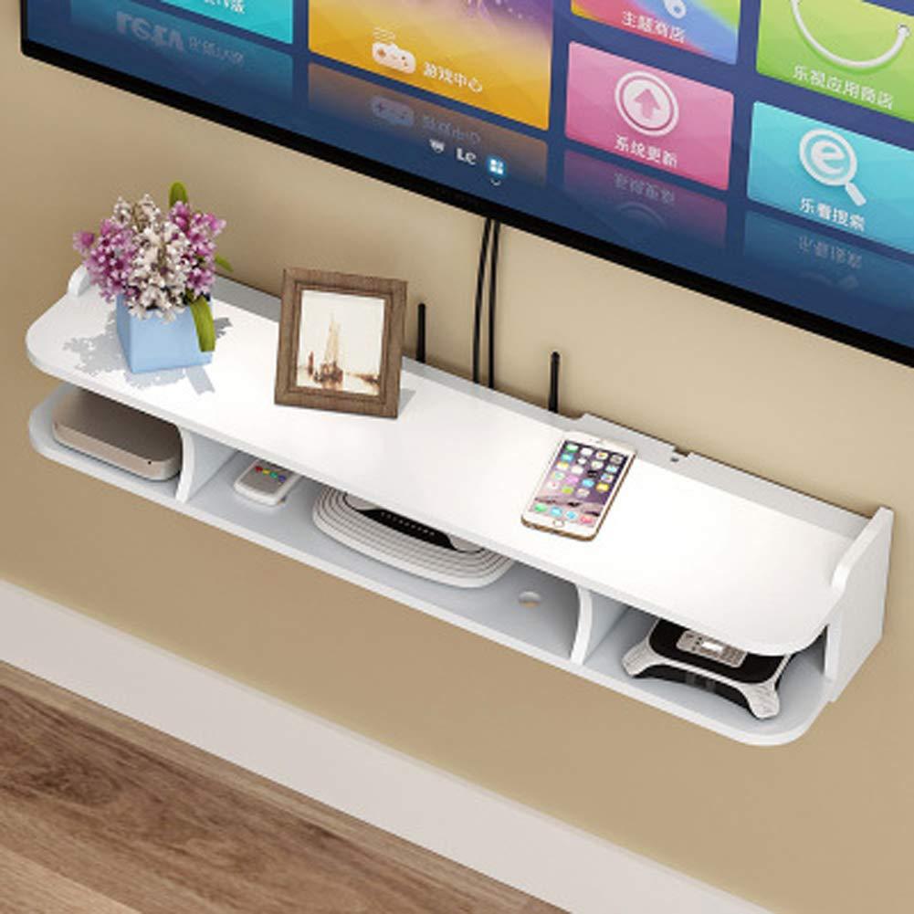 Regalo-A BAIYIQW Consola de Estante para TV Flotante Rack de Almacenamiento Multimedia Estante del Enrutador Inal/ámbrico Color: Blanco