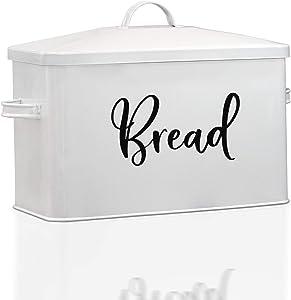Bread Box-Modern Farmhouse Kitchen Decor-Bread Boxes For Kitchen Counter Extra Large-Rustic Bread Storage-Breadbox Bin for Kitchen Countertop-Bread Containers Loaf Storage-Rustic Kitchen Accessories