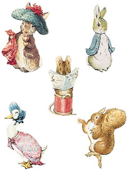 Wallies Beatrix Potter Character Wallpaper Cutouts