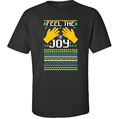 groovy gifts for all feel the joy of the holidays ugly christmas sweater adult shirt - Feel The Joy Christmas Sweater