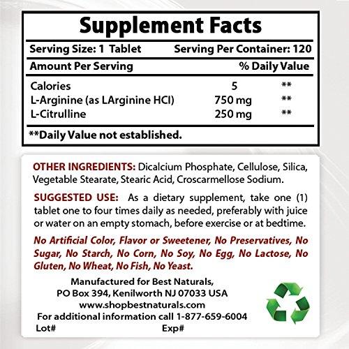 Best Naturals Arginine Citruline Complex 1000 mg 120 Tablets by Best Naturals (Image #1)
