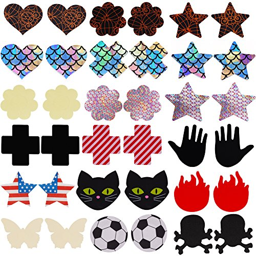 18 Pairs NippleCovers, Heart Shape Pasties Adhesive Bra Breast Petal Tops Nippleless Cover by HMMALL