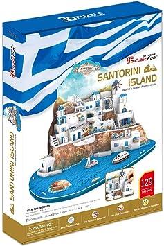 CUCUBA 3D Puzzle Islas De Santorini Grecia 129 Piezas MC062H: Amazon.es: Juguetes y juegos