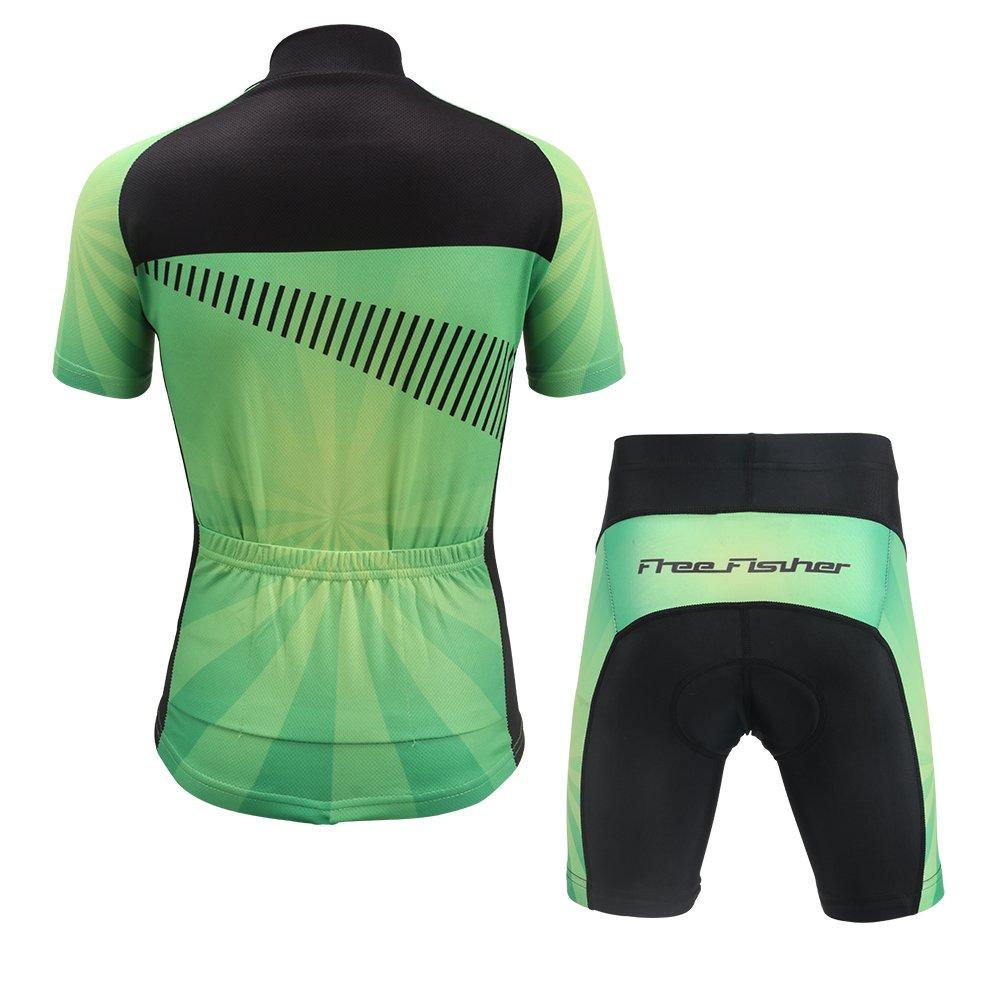 0d66ecfca LPATTERN Short Sleeve Children Kids Boys Cycling Jersey Set Top  Pants   Shorts