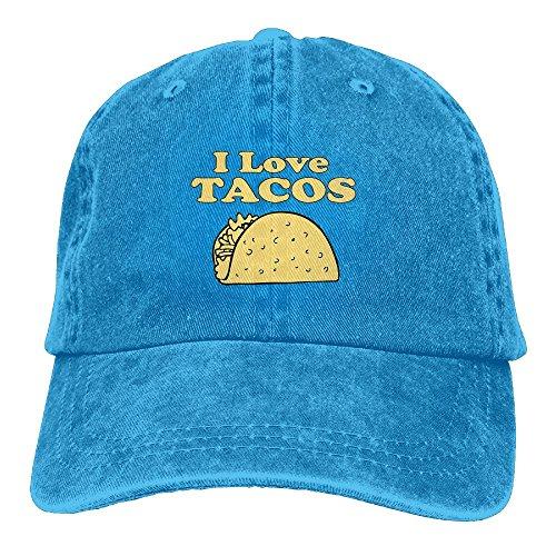 VHGJKGIN I Love Tacos Male and Female Adult Cowboys and Low Adjustable Baseball Caps.A Cowboy Hat, -