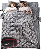 Chillax Double Sleeping Bag for Camping, Backpacking or Hiking – Perfect Sleeping Sack for Couples – Extra Large 3 Season Waterproof Sleeping Bag for 2 Person, Adults, Seniors – Best Unique Gift ! Review