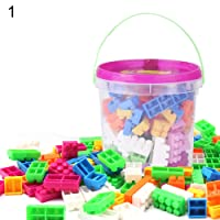 FnieYxiu Educational Toys, 105Pcs DIY Colorful Plastic Particle Building Blocks Educational Children Toys