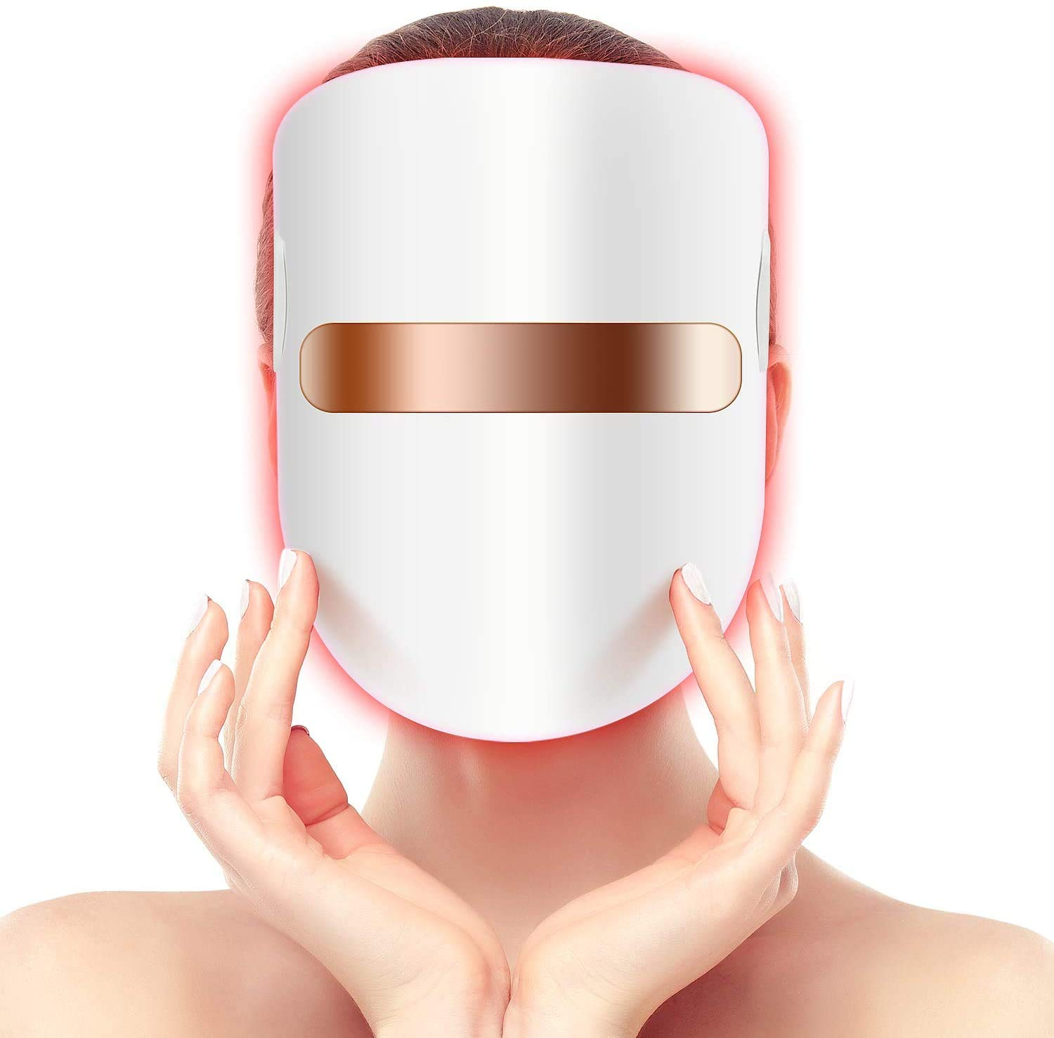 Hangsun Light Therapy Acne Treatment LED Mask FT350 Facial Therapy Unlimited Sessions for Acne Face Skin Treatment - Individually Lights of Red/Blue/Orange
