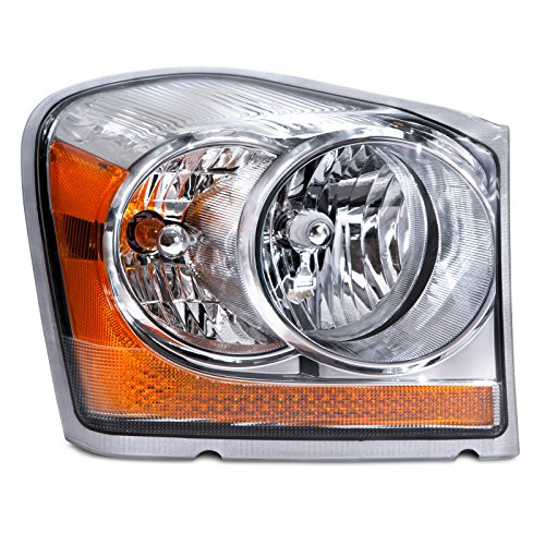 HEADLIGHTSDEPOT Compatible with Headlight Halogen (Non-HID) OE Style Right Passenger Side Fits Dodge Durango