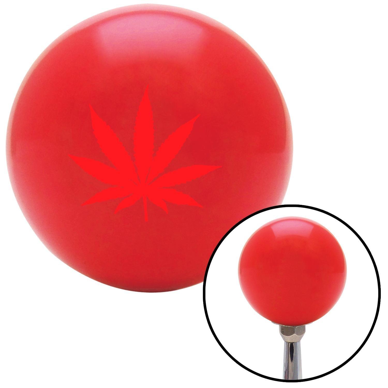 American Shifter 98808 Red Shift Knob with M16 x 1.5 Insert Red Marijuana Leaf