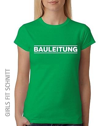 Bauleitung -- Girls T-Shirt Kelly Green, Größe S