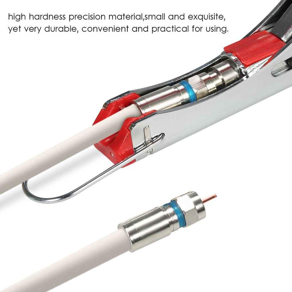 Topker Cable de prensa Alicates Cable coaxial de compresión Crimper Línea F Conector alambre Alicate Terminador: Amazon.es: Bricolaje y herramientas
