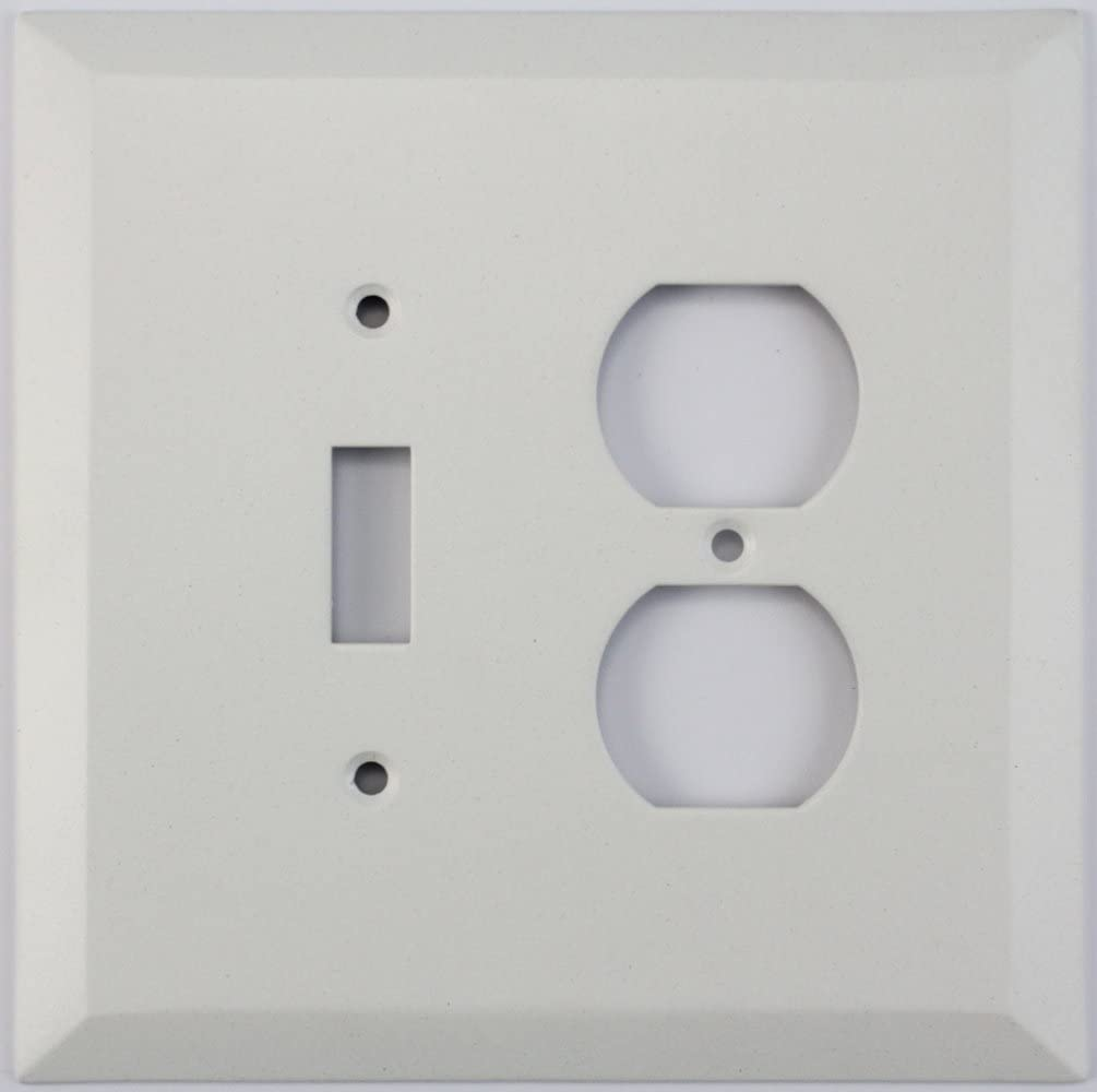 Classic Accents Jumbo White Switch Plates 2 Gang Combo 1 Toggle Switch 1 Duplex Outlet