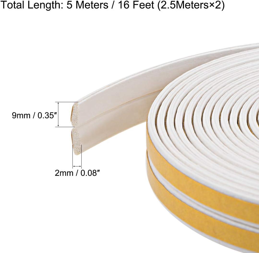 7 mm y 10 mm 2 mm Dufex Surtido de espuma ancho blanco de las tiras de Artesanía