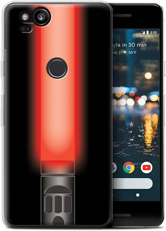 Stuff4® Phone Case/Cover/Skin/GG de GC/Lightsaber Laser Sword Collection Vader Sith Herr Rot Google Pixel 2: Amazon.es: Informática
