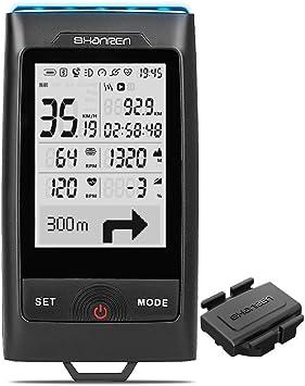 Computadora para Bicicleta SHANREN Di-Pro GPS, 96 horas Bluetooth ...