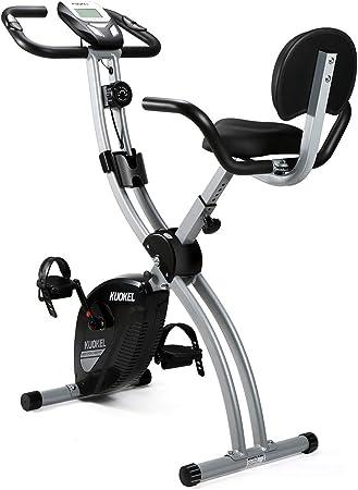 KUOKEL Bicicleta Estática Plegable Bicicleta Spinning Exercise Bike Resistencia Variable Ruido Bajo Monitor LCD Soporte para Teléfono Bicicleta de Ejercicio: Amazon.es: Deportes y aire libre