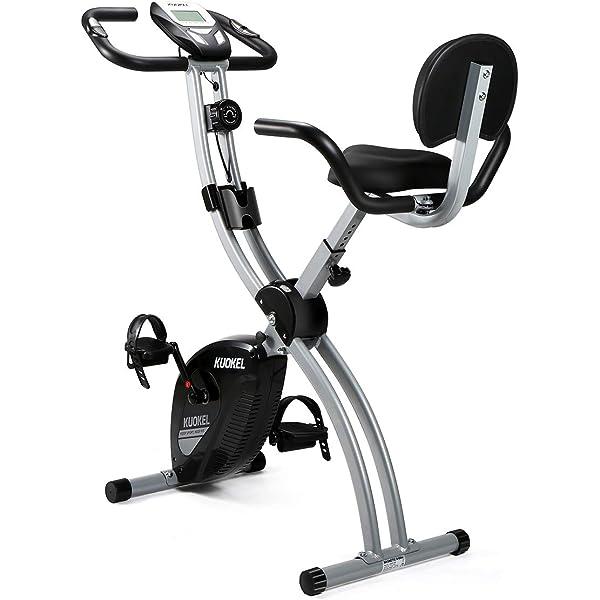 Ultrasport F-Bike Design Bicicleta estática de fitness plegable con sillín de gel, portabidones, pantalla LCD, sensores de pulso, compacta y plegable, carga máxima 110 kg, Rosa: Amazon.es: Deportes y aire libre