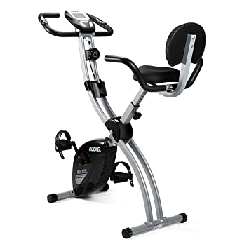 Excellent Kuokel Folding Magnetic Upright Exercise Bike With Pulse Adjustable Resistance And Seat Height For Indoor Use Space Saving Creativecarmelina Interior Chair Design Creativecarmelinacom