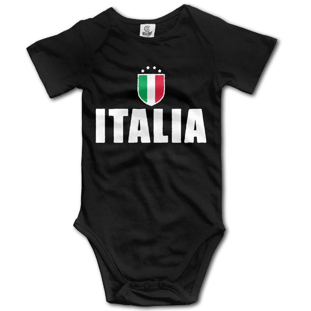 Cotton 100% Baby Onesie Unisex Bodysuits Baby Italia Futbol Soccer Flag