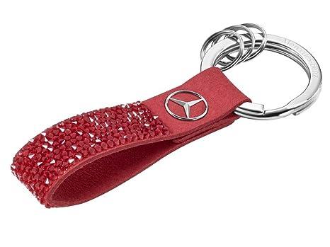Mercedes-Benz - Llavero rojo rojo: Amazon.es: Equipaje