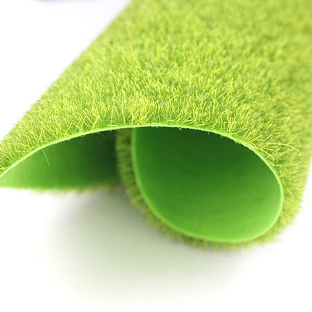 D/écoration pour jardin bonsa/ï Vert D/écoration de mousse artificielle Toruiwa maison 15cm*15cm Micro paysage de faux gazon 1 pi/èce