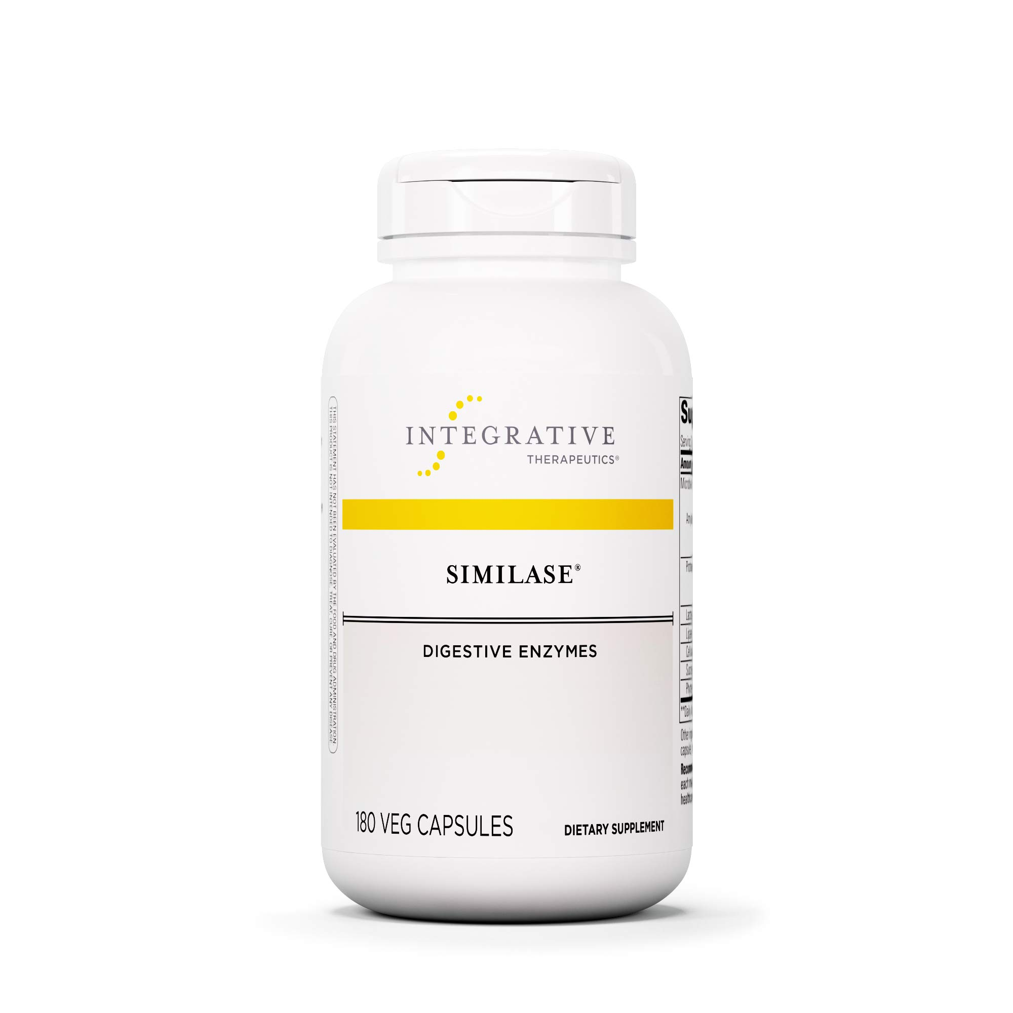 Integrative Therapeutics - Similase - Physician Developed Digestive Enzymes for Women and Men - Relieves Occasional Gas and Bloating - Vegan - 180 Vegetable Capsules by Integrative Therapeutics
