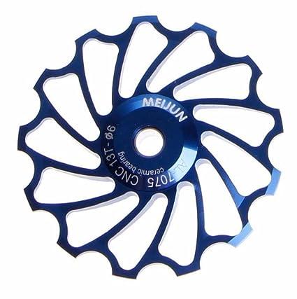 Sannysis 13T MTB Rueda del cojinete Desviador trasero de bicicleta para MTB Rueda de polea de