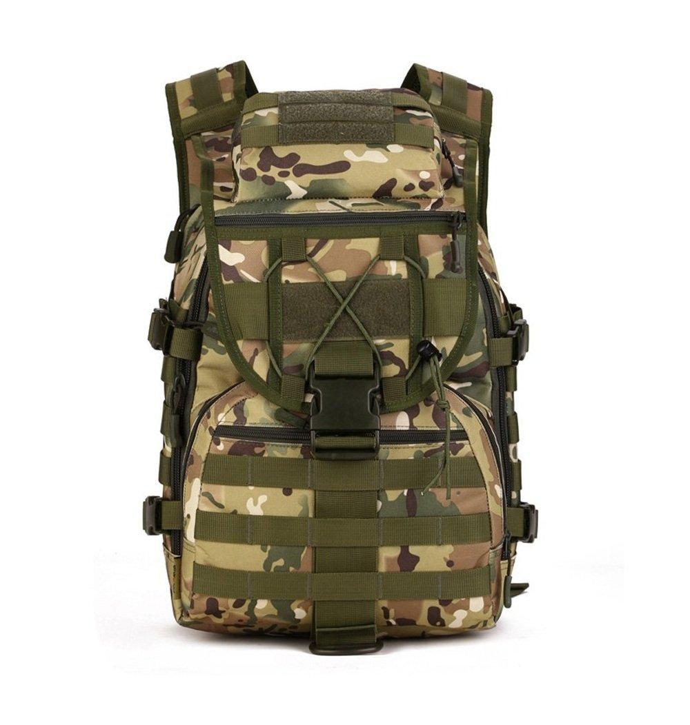 militaire épaule Sac à dos 40L tactique Sac à dos Molle Assault Pack Sac à dos Gear Sac étanche pour la chasse Camping Beige YFNT