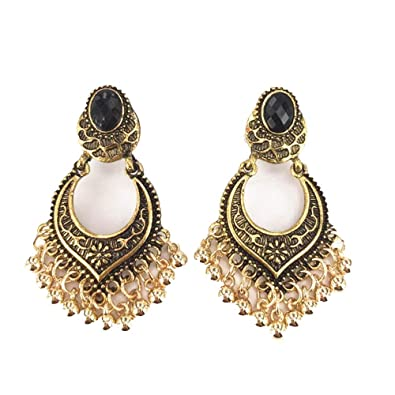 e3a57d3614 Amazon.com: Vintage Earrings for Women Ethnic Boho Style Fringes ...