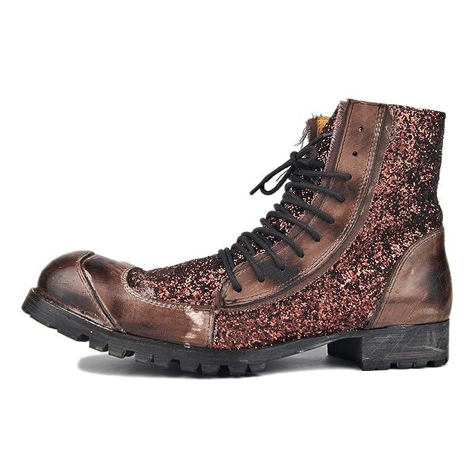 Botas de senderismo de hombre cuero punk rock botines Chelsea botas marea motocicleta zapatos Western vaquero botas de gran tamaño: Amazon.es: Ropa y ...