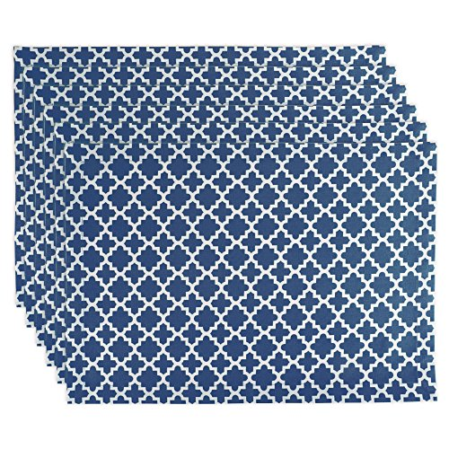 DII Lattice Cotton Placemat For Dinner Parties, Summer & Outdoor Picnics  - 13x 19