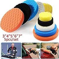 5Pcs 7 Polishing Pad Wheel Soft Wool Ball Bonnet Kit Wheel Pad Abrasive Tool Car Body Polishing Discs WYS-PGMAO