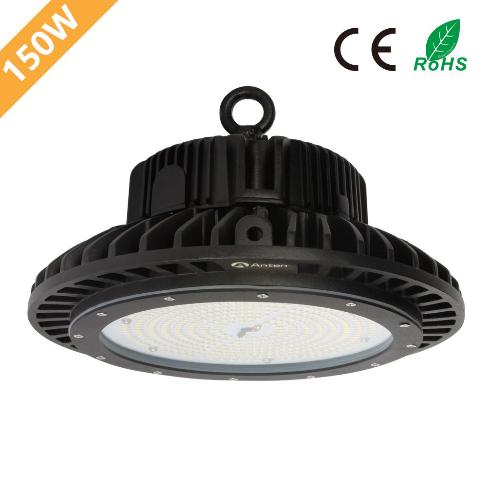 Anten 150W LED High Bay UFO Lights, 22000 Lumen, SMD 2835, IP65 Waterproof, AC100-240V, White, 6000K, Super Bright Commercial Lighting by Anten