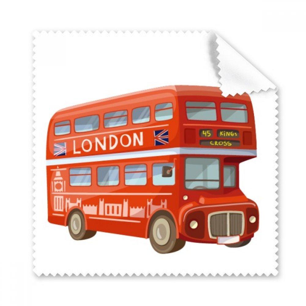 英国ロンドンレッドダブルデッカーバスグラス布クリーニングクロス ギフト電話スクリーンクリーナー 5個   B071W323RD
