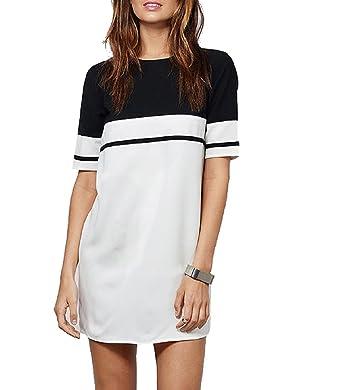 baebd783098f fabula Women's Half Sleeve Long T-Shirt Dress: Amazon.in: Clothing ...