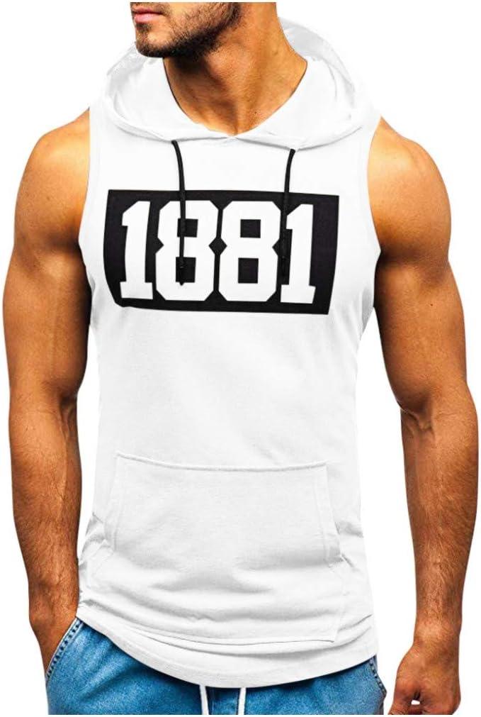 Sylar Camiseta sin Mangas para Hombre Verano Camisetas de Tirantes con Capucha impresión de Letras Camiseta Gym Hombre Deporte Fitness Chaleco Tops Pullover: Amazon.es: Ropa y accesorios