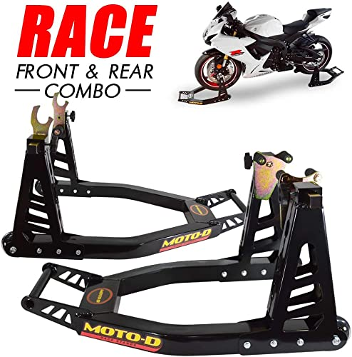 MOTO-D Swingarm Motorcycle Stands (Front and Rear)