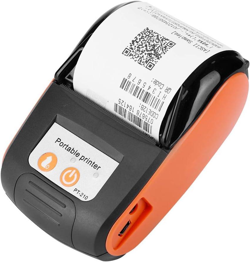 58mm Impresora de recibos térmica inalámbrica, Mini impresora térmica portátil Bluetooth con impresión de alta velocidad impresora POS Mobile para Android, iOS y Windows.
