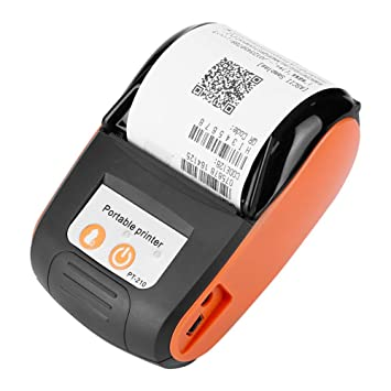 Garsent 58 mm Impresora de Recibos térmica inalámbrica, Mini Impresora térmica portátil Bluetooth con impresión de Alta Velocidad Impresora POS Mobile ...
