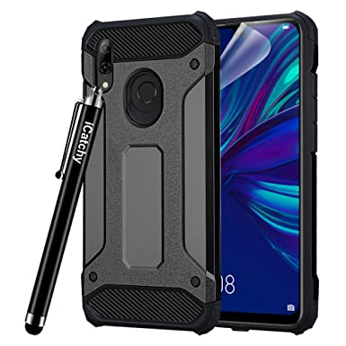 check out c033b 882f6 iCatchy For Huawei P Smart 2019 Case - Impact Heavy Duty Hard Tough Dual  Layer Armour Defender Case compatible for For Huawei P Smart 2019 (Black)