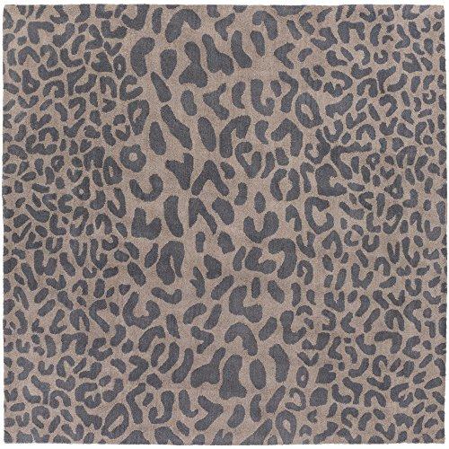 Surya Athena ATH-5114 Hand Tufted Wool Square Animal Print Area Rug, 6-Feet