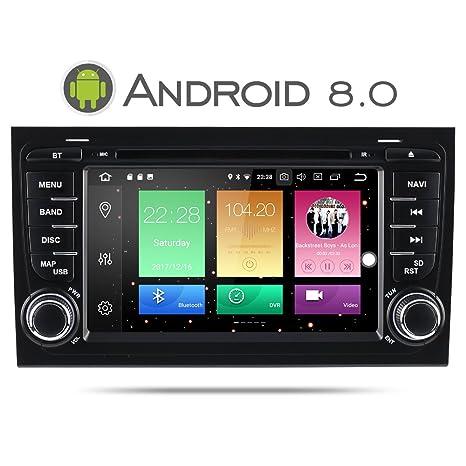Sistema estéreo para coche de doble DIN, Android 8.0 de 7 pulgadas, para Audi